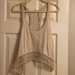 Ecote Urban Outfitter cropped crochet tank